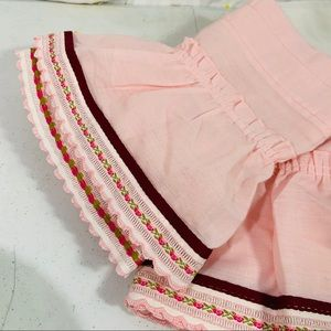 Vintage Accents - Vintage Curtain / Valance Bundle Pink Embroidered